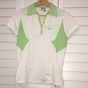 Nike Sports tennis shirt green white